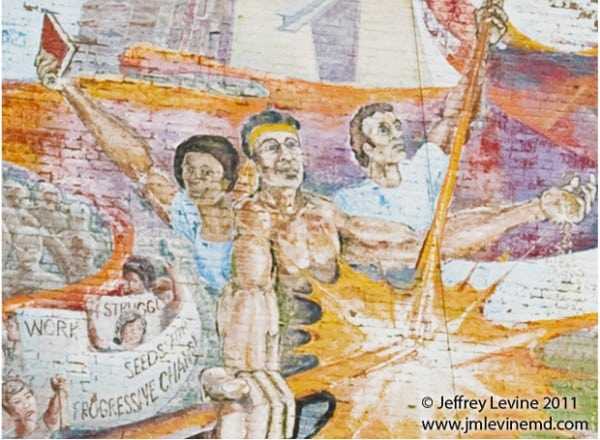 Mural, art, lost landmarks, Alan Okada, City Arts workshop, lower east side, Jeffrey-M-Levine-MD; Jeff-Levine, Dr-Jeffrey-Levine, Jlevinemd, levineartstudio, urbansketchers