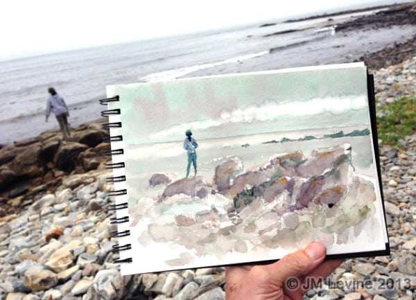 Maine, watercolor, acadia, acadia national park, southwest harbor, Jeffrey-M-Levine-MD; Jeff-Levine, Dr-Jeffrey-Levine, Jlevinemd, levineartstudio, urbansketchers