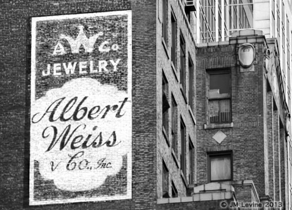 weiss jewelry, signs of old new york, changing manhattan