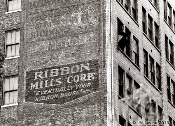 ribbon mills, signs of old new york, changing manhattan