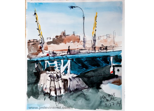 Jeffrey-M-Levine-MD; Jeff-Levine, Dr-Jeffrey-Levine, Jlevinemd, levineartstudio, manhattan, new-yorkers, urbansketchers, urban sketchers, gowanus, watercolor, sketchbook, aquarelle, watercolour