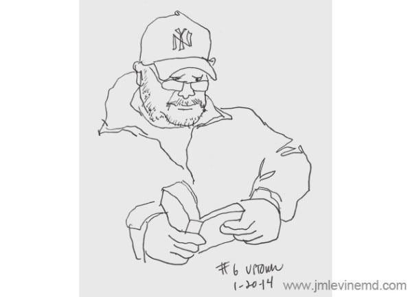 nycurbansketchers, pen-and-ink, sketchbook, subway, nyc subway, metro, Jeffrey-M-Levine-MD; Jeff-Levine, Dr-Jeffrey-Levine, Jlevinemd, levineartstudio, manhattan, watercolor, urbansketchers