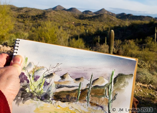 Rediscovering my Art Supplies in the Arizona Desert