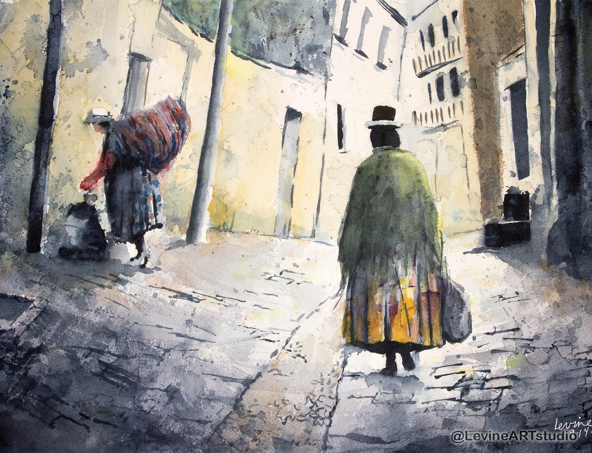 Peru, Jeffrey-M-Levine-MD; Jeff-Levine, watercolor, sketchbook, aquarelle, watercolour