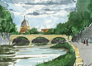 Watercolor and Urban Sketching in Italy