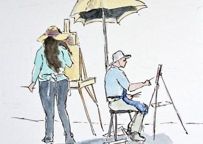 Jeffrey-M-Levine-MD; Jeff-Levine, Dr-Jeffrey-Levine, Jlevinemd, levineartstudio, , watercolor, pen and ink, urban sketching, maine, downeast