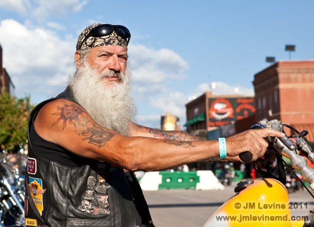 Making the scene in sturgis