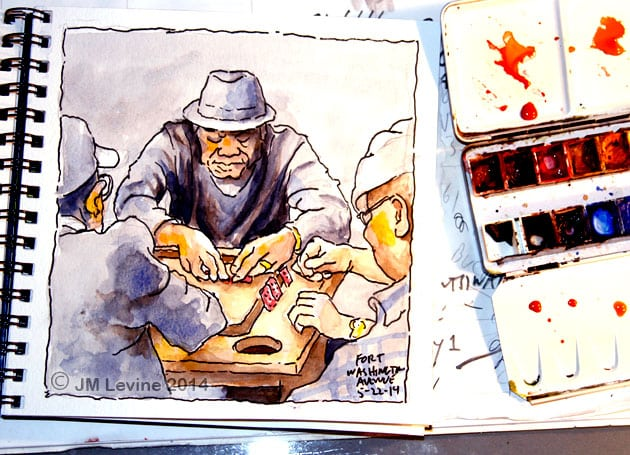 Jeffrey-M-Levine-MD; Jeff-Levine, Dr-Jeffrey-Levine, Jlevinemd, levineartstudio, manhattan, new-yorkers, Washington-heights, bennett-avenue, dominican-republic, watercolor, sketchbook, aquarelle, watercolour