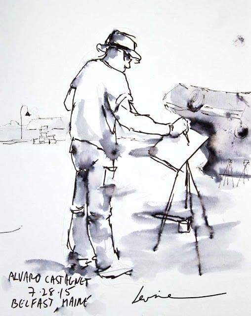 exploring art in maine, alvero castagnet