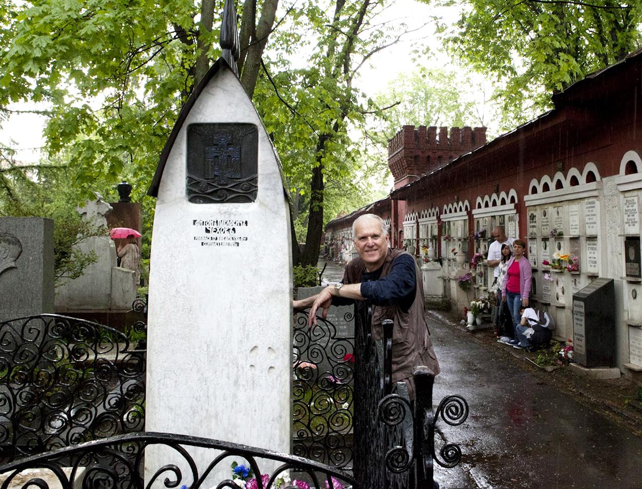Chekhov grave, novodevichy cementery, anton chekhov, moscow, Jeffrey-M-Levine-MD; Jeff-Levine, Dr-Jeffrey-Levine, Jlevinemd, levineartstudio,
