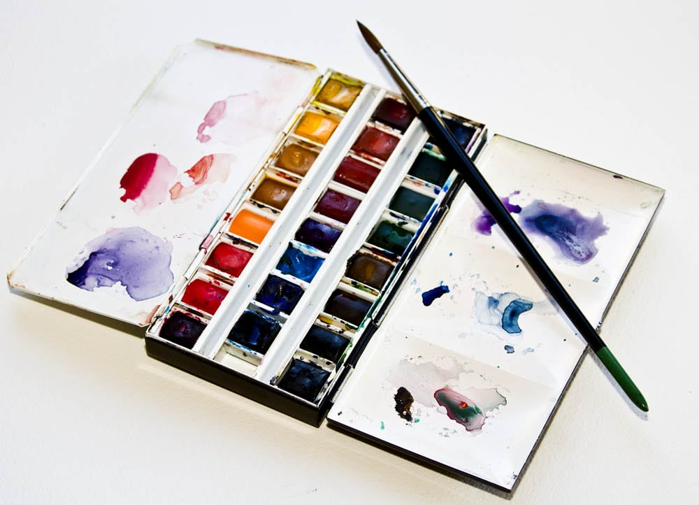 Winsor Newton watercolor palette