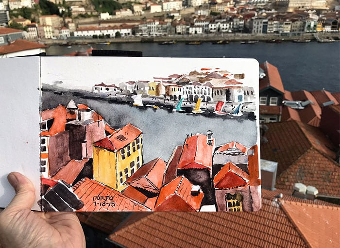 Urban Sketching in Porto and Madrid