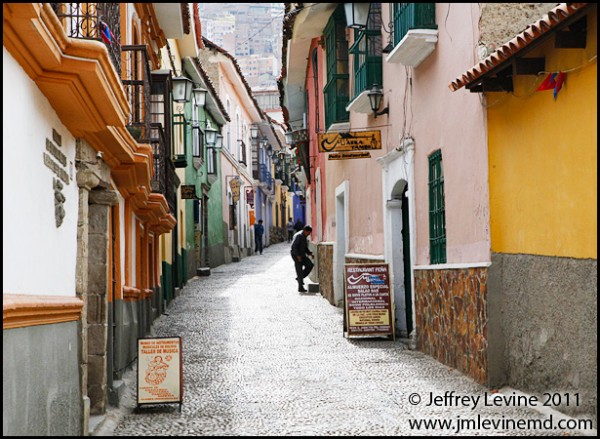 Colonial Street in La Paz Photograph by Jeffrey M Levine