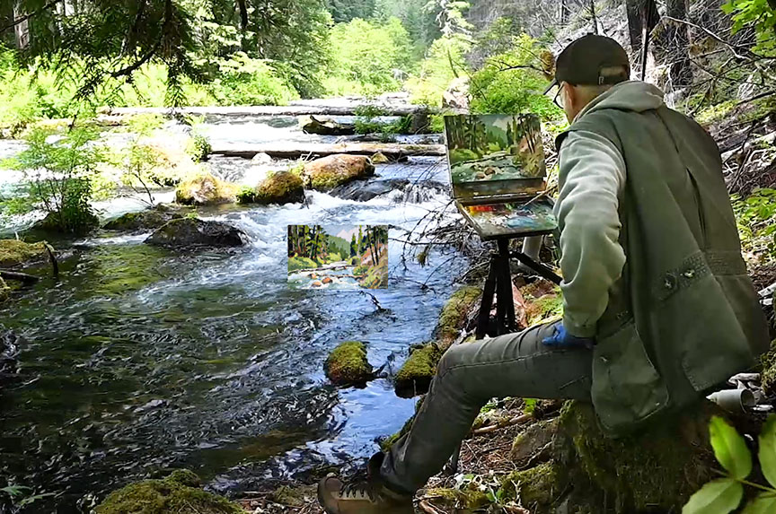 Jeffrey Levine plein air painting