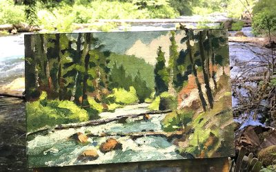 Plein Air Painting on the McKenzie River