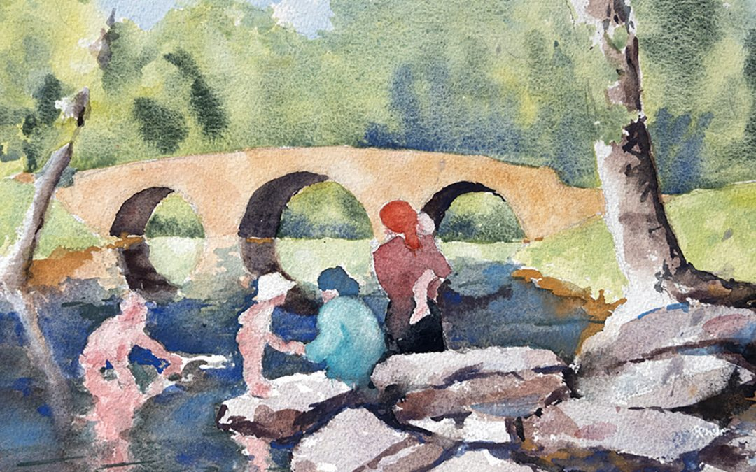 Painting Stone Arch Bridge in the Catskill Mountains