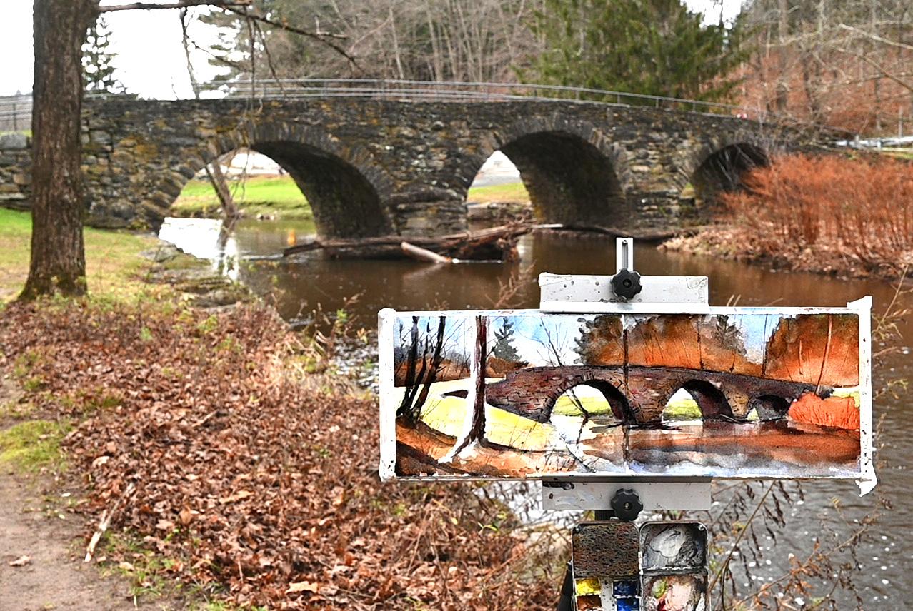 Old Stone Bridge in Sullivan County Fall