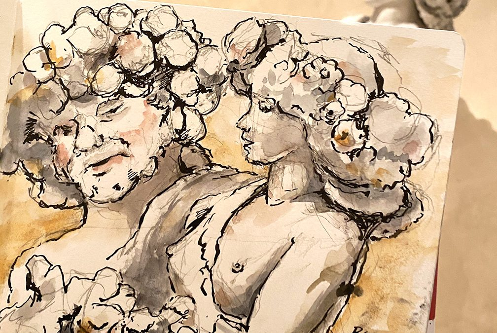 Sketching Flora and Priapus at the Metropolitan Museum of Art