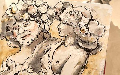 Sketching Flora and Priapus at the Metropolitan Museum of Art
