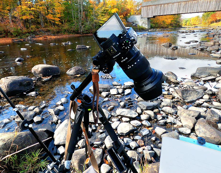 Setup for plein air video by Jeff Levine
