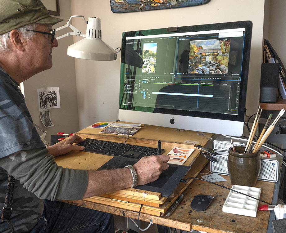 Jeff Levine studio using Premiere Pro