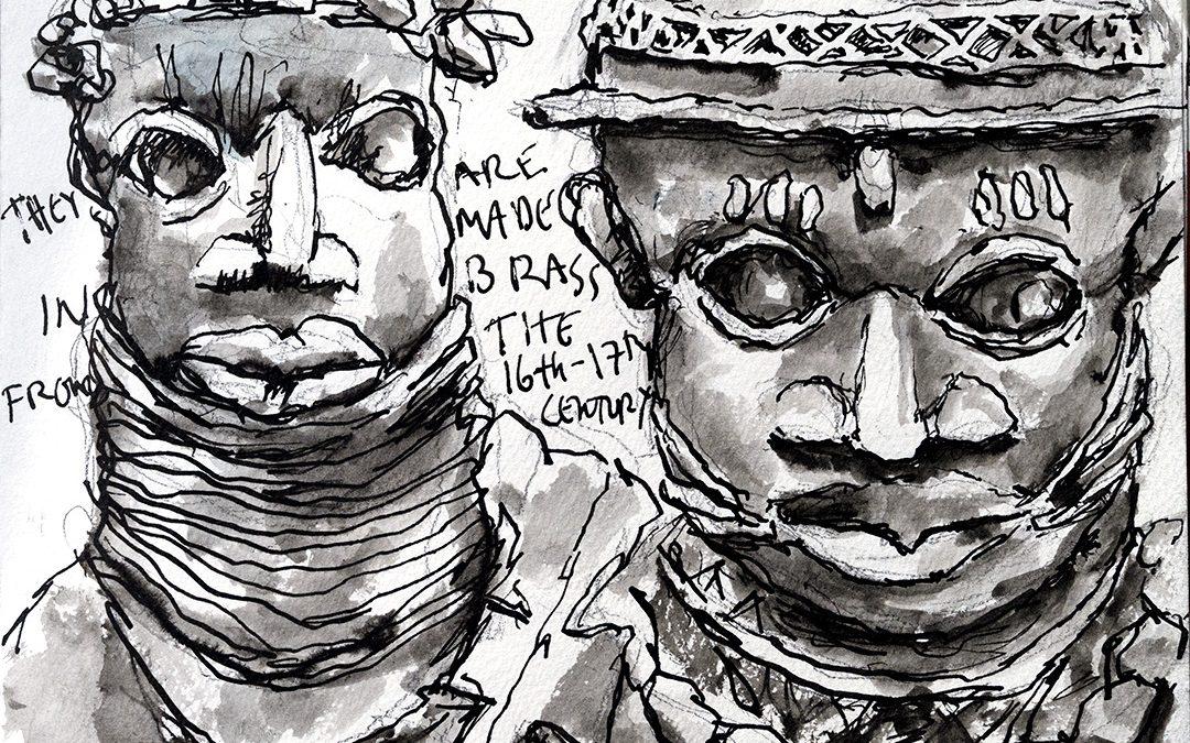 Sketching the Benin Bronzes at the Met