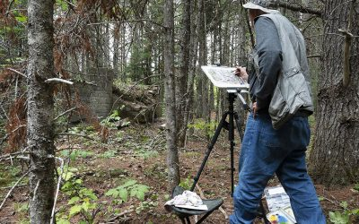 Sketching An Encounter with WWII History in Maine's North Woods