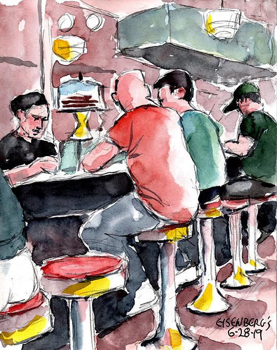 Sketching Eisenbergs Sandwich Shop