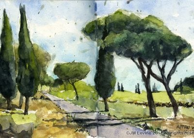 Jeffrey-M-Levine-MD; Jeff-Levine, Dr-Jeffrey-Levine, Jlevinemd, levineartstudio, , watercolor, pen and ink, urban sketching, rome, tuscany