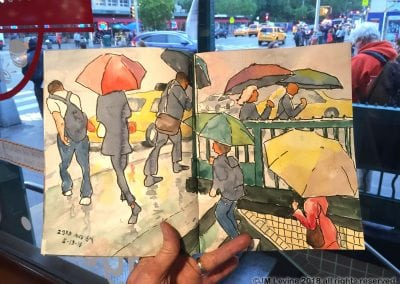Sketching in New York City