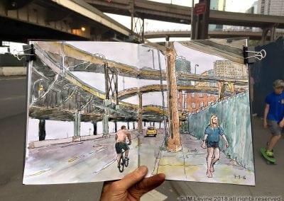 Jeffrey-M-Levine-MD; Jeff-Levine, Dr-Jeffrey-Levine, Jlevinemd, levineartstudio, , watercolor, pen and ink, urban sketching manhattan, nyc, new York city