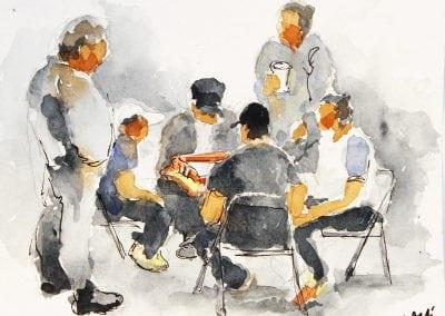 Jeffrey-M-Levine-MD; Jeff-Levine, Dr-Jeffrey-Levine, Jlevinemd, levineartstudio, Washington heights, watercolor, pen and ink