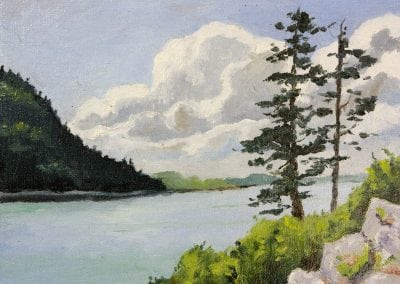 Maine, Somes sound, maine, oil painting