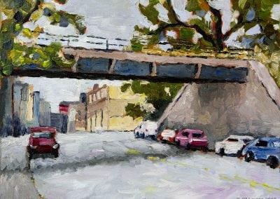 long island city, Queens, plein air, oil painting