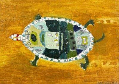 oil painting, turtle, Jeffrey Levine