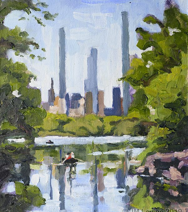 Plein Air Oil Painting in Central Park