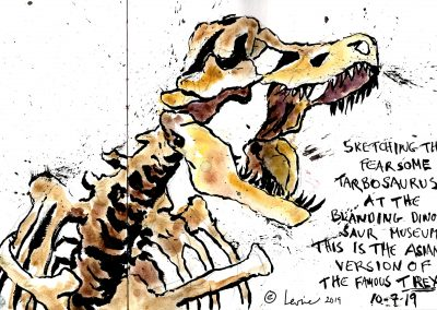 Dinosaur bones, Tarbosaurus, Blanding Dinosaur Museum