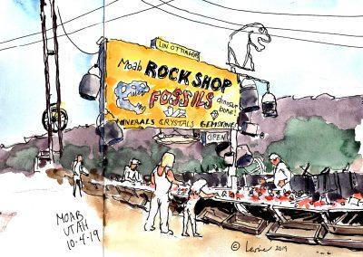 Ollingers Rock Shop, sketchbook, watercolor, pen and ink