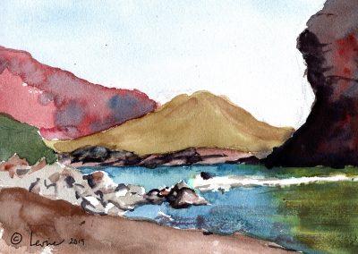 Colorado river, moab utah, watercolor, canyons