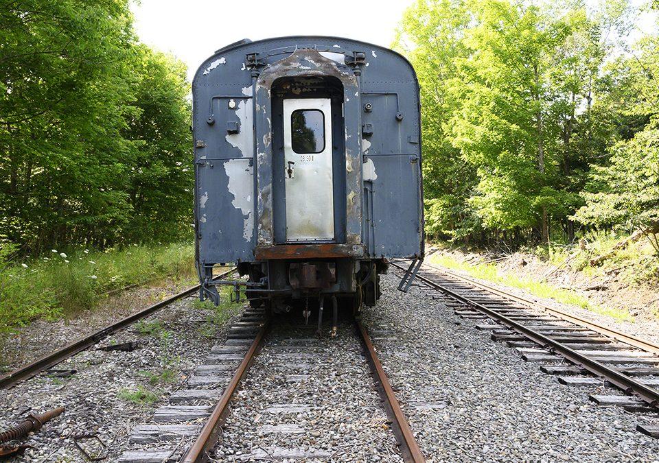 A Train Graveyard in Thorndike, Maine