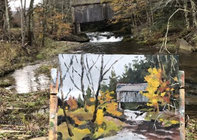 Plein air painting in the Catskills