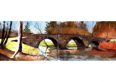 Stone arch Bridge in the Catskills