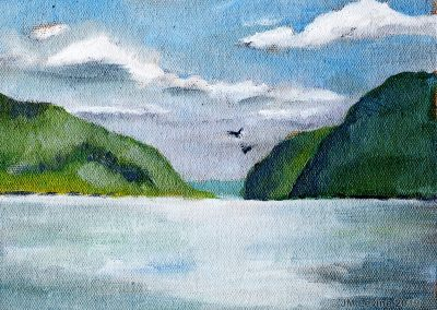 Plein air oil painting in the Hudson Valley