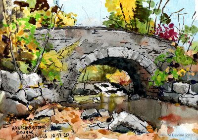 Plein air watercolor and gouache in the catskills